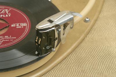 HMV record player: arm and cartridge
