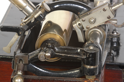 Edison Class M phonograph: view of the mandrel