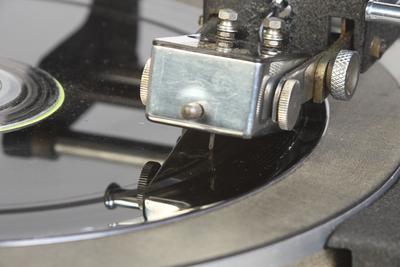Birmingham Sound Reproducers Ltd DR33C portable disc cutting lathe: cutter head