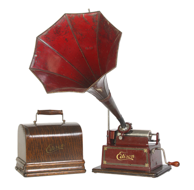 Edison Gem Model D phonograph: lid