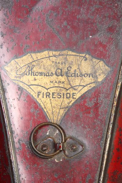 Edison Gem Model D phonograph: back of the horn