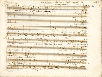 Masses, motets and other church music by Johann Ernst Eberlin and Johann Michael Haydn, partly in the hand of Wolfgang Amadeus Mozart