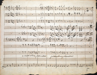 Domenico Cimarosa: Fragment, apparently from a duet or trio in D
