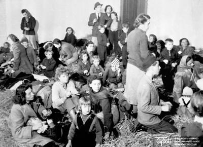 Refugees at cadet school