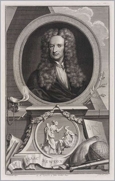 The Heads of Illustrious persons: Isaac Newton Godolphin