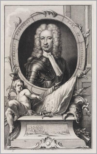 The Heads of Illustrious persons: Charles Mordaunt graaf van Peterborough