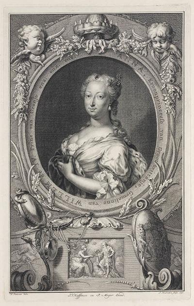 Portret Anna van Hannover, echtgenote Willem IV