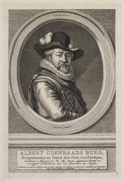 Portret Albert Coenraads Burg