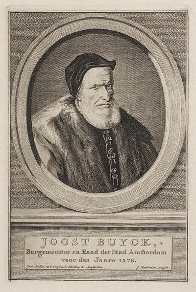 Portret Joost Buyck, burgemeester Amsterdam