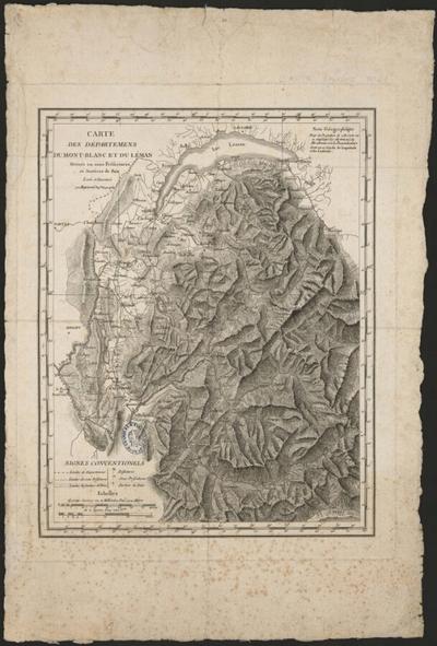 Carte des départemens du Mont-Blanc et du Léman,…