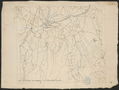 Carte des environs de Chambéry