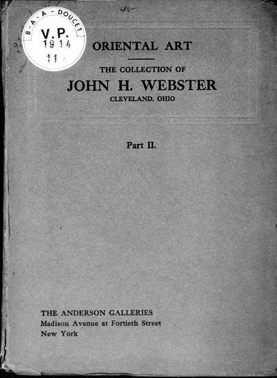 John H. Webster collection part II [...] : [vente du 22 janvier 1914]