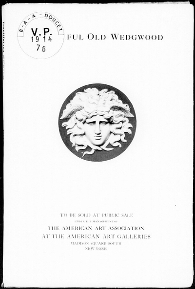 Illustrated catalogue of beautiful old Wedgwood [...] : [vente du 16 février 1914]