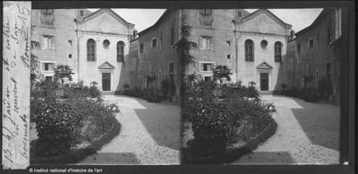 Jardin et entrée du couvent de San Cosimato, Rome