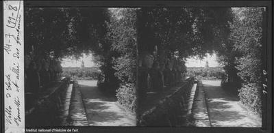[Tivoli] Villa d'Este. Rometta et allée des fontaines