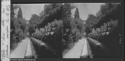 [Tivoli] Villa d'Este. Allée des fontaines. Cascades
