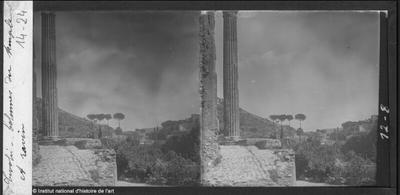 Tivoli. Colonnes du temple et ravin