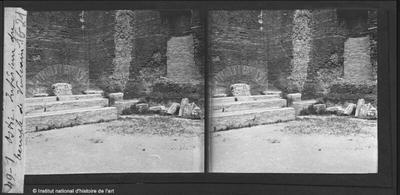 Ostie. Intérieur du temple de Vulcain