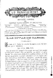 Lo Renaixement : butlletí mensual del Centre Catalanista d'Igualada