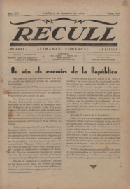 Recull : setmanari d'informació comarcal