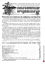 Hoja Dominical de Igualada