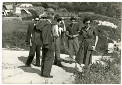 Egy társaság vidéken / A group in the countryside