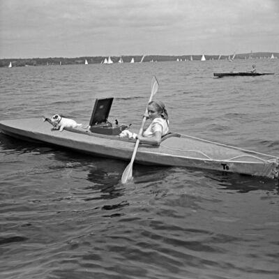 Werbefoto Klepper Faltboot