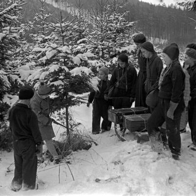 Kinderweihnacht in einer Thüringer Waldhütte