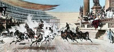 Wettrennen im Zirkus des Nero
