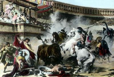 Kämpfe und Tierhatz im Kolosseum