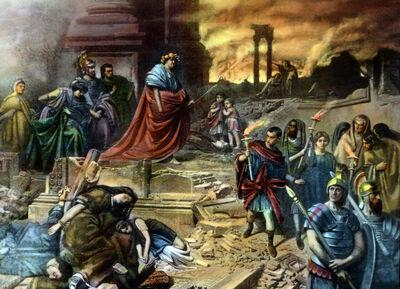 Nero nach dem Brand Roms