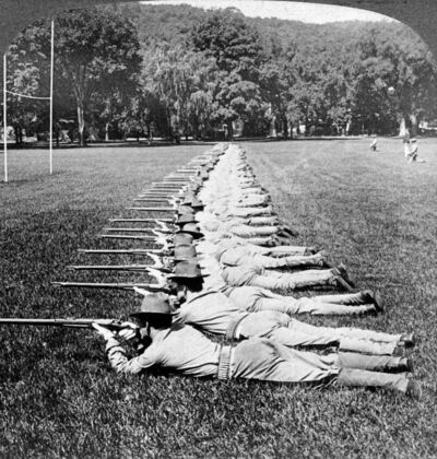 Skirmish Line Drill, West Point, New York