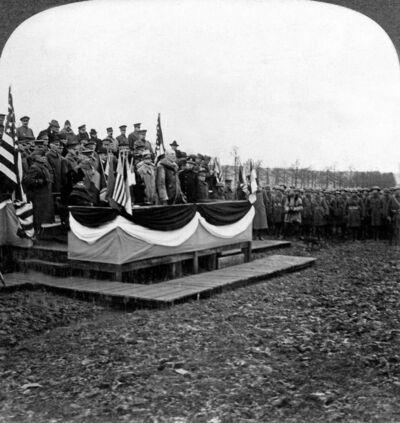 President Wilson addressing our Boys