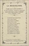 La Brabançonne couplet pour le roi Albert Ier