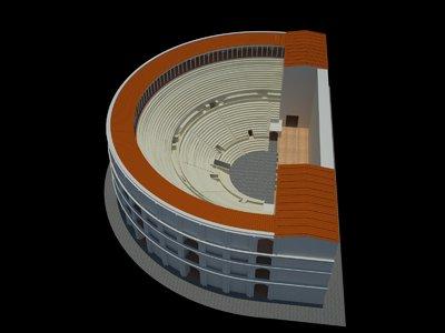 Video of 3D model of Roman Theatre at Naples