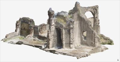 3D model of Upper floor of Roman Buildings at Naples (Carminiello ai Mannesi)