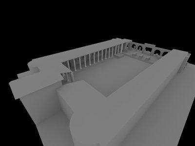 3D model of Augusteum at Herculaneum