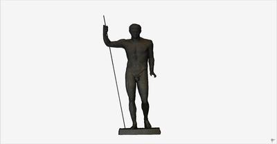 3D model of statue of heroic Claudio