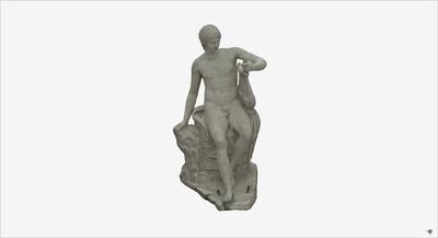 Images of 3D model of statue of Apollo Citaredo
