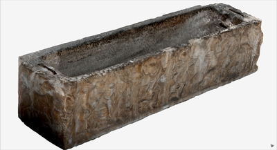 Images of 3D model of Sarcophagus of Ippolito and Fedra