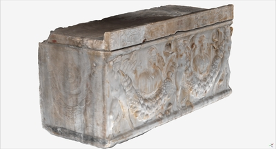 Images of 3D model of Sarcophagus of the Garlands