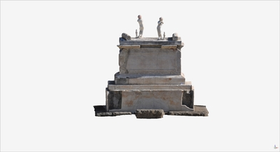Images of 3D model of the Altar in the Southern Terrace at Herculaneum