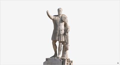 Images of 3D model of Marco Nonio Balbo at Herculaneum