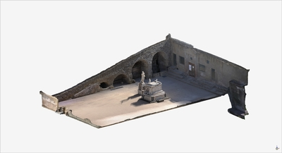 Images of 3D model of Southern Terrace at Herculaneum