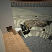 Images of 3D model of Roman Theatre at Naples with original Cavea and Buttresses