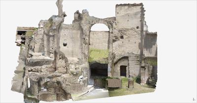 Images of 3D model of Roman Buildings at Naples (Carminiello ai Mannesi)