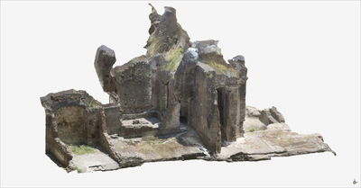 Images of 3D model of Upper floor Roman Buildings at Naples (Carminiello ai Mannesi)
