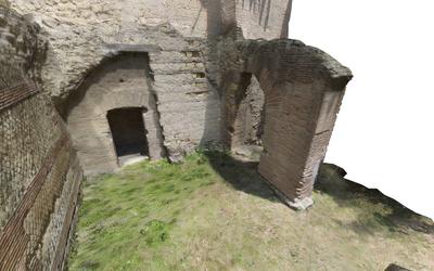 Images of 3D model of Mithraeum at Naples (Carminiello ai Mannesi)