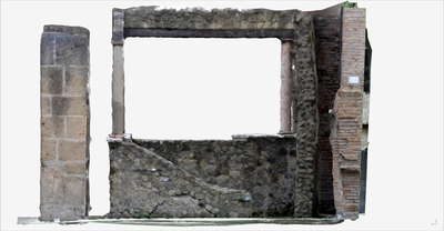 Images of 3D model of Triclinio at Herculaneum