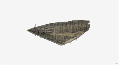 Images of 3D model of the Roman Boat at Herculaneum